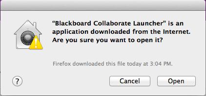 Mac warning re. opening launcher