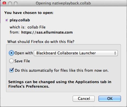 Opening nativeplayback.collab dialog